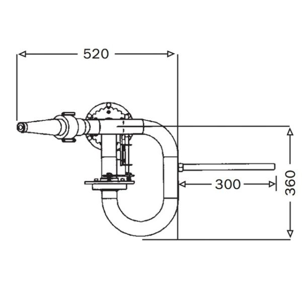 1pt5 Inch Mini Manual Monitormm40 Technical Drawing From Top