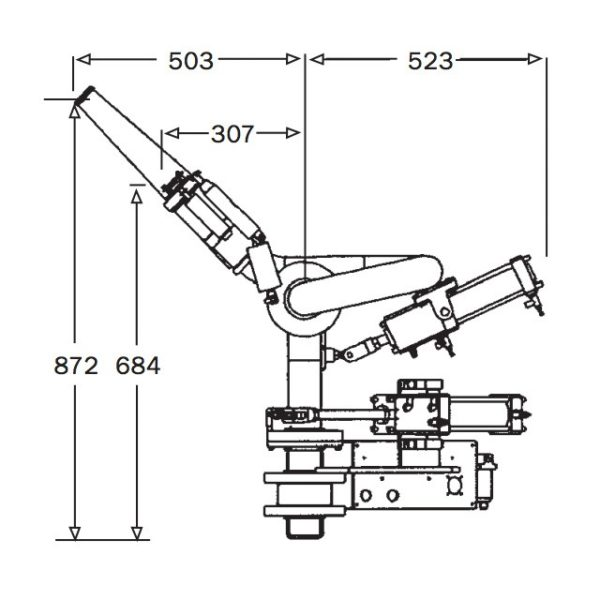 2pt5 Inch Hydraulic Remote Monitor Technical Drawing From Top