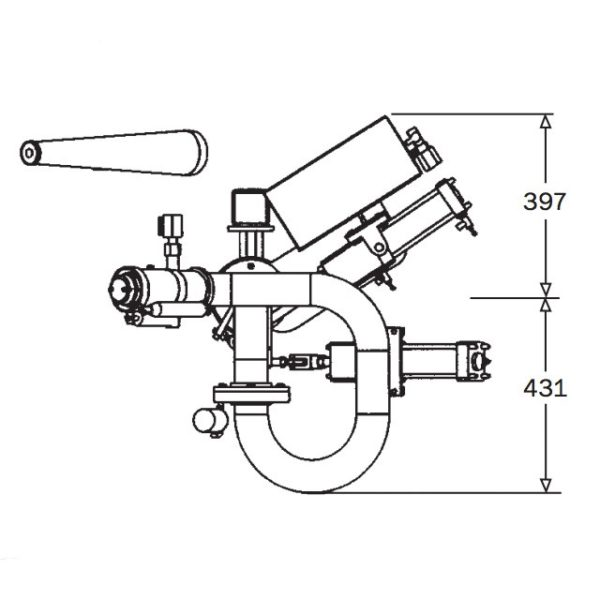 2pt5inch Electric Remote Monitor Rm65 E Technical Drawing From Top