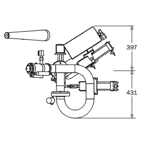 2pt5inch Pneumatic Remote Monitor Rm65 Mk5 Technical Drawing From Top