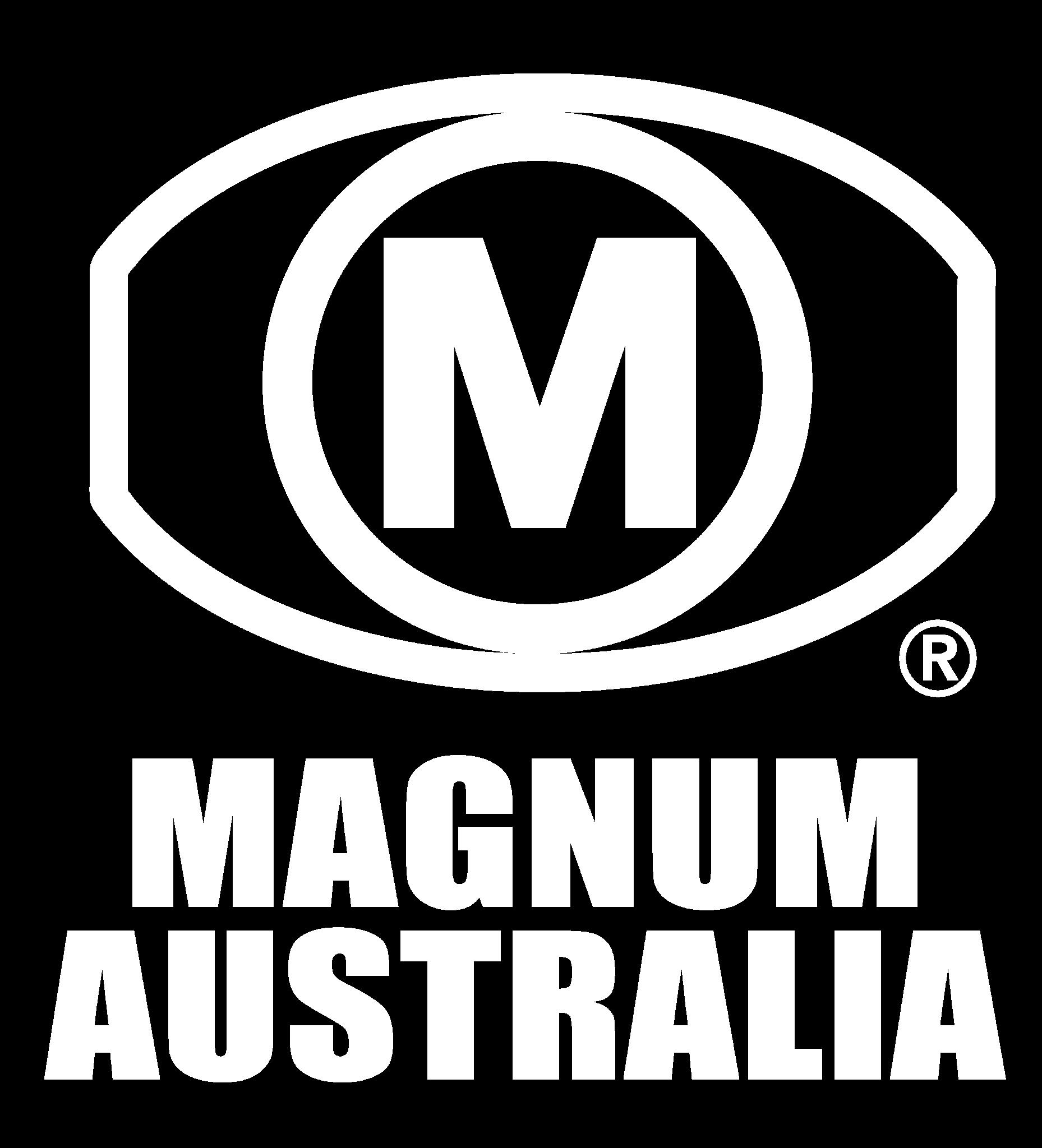 Magnum Magnum Logo White